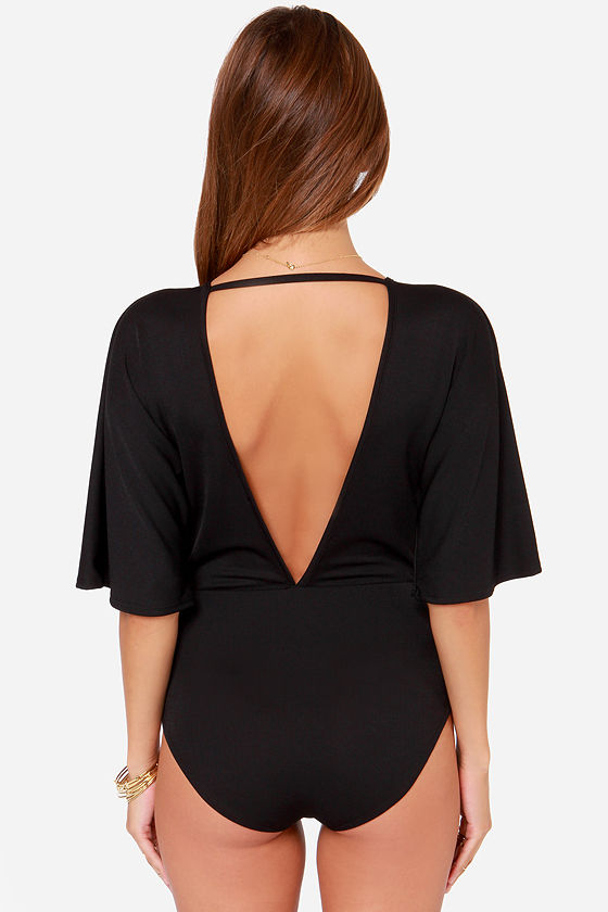 LULUS Exclusive Here For The Applause Black Bodysuit at Lulus.com!