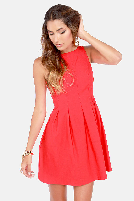 Cute Red Dress - Sleeveless Dress - $42.00