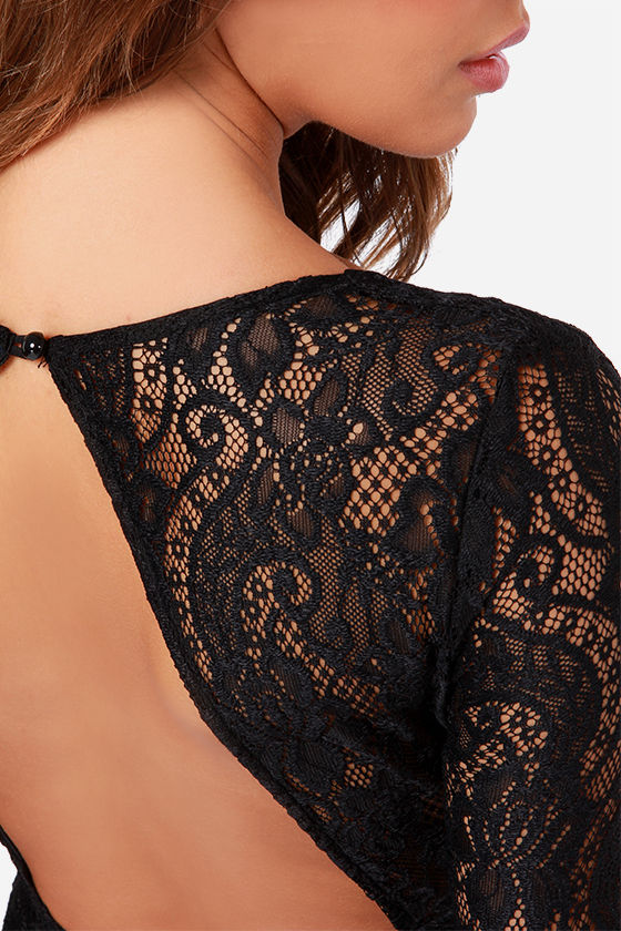 LULUS Exclusive Curve Appeal Black Lace Dress at Lulus.com!