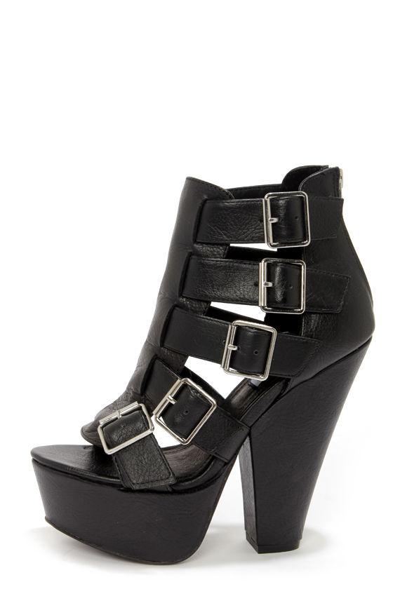 d59ce22632b Sexy Black Shoes - Platform Heels - Ankle Boots -  129.00