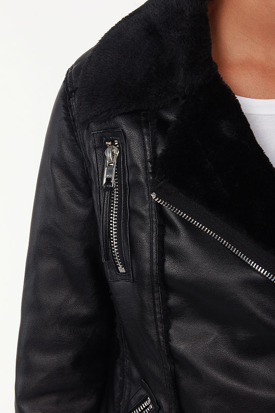 Blank NYC Night Rider Black Vegan Leather Bomber Jacket at Lulus.com!