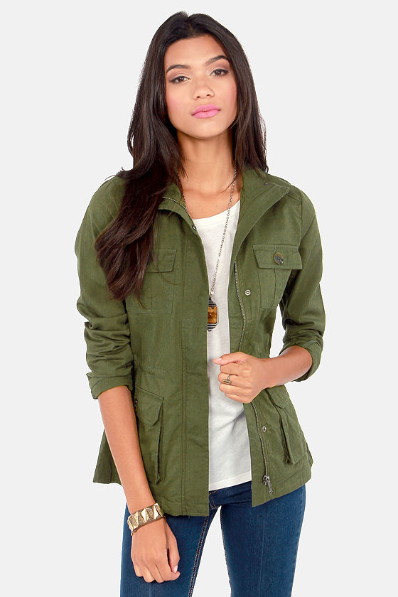 BB Dakota by Jack Leslie Army Green Military Jacket at Lulus.com!