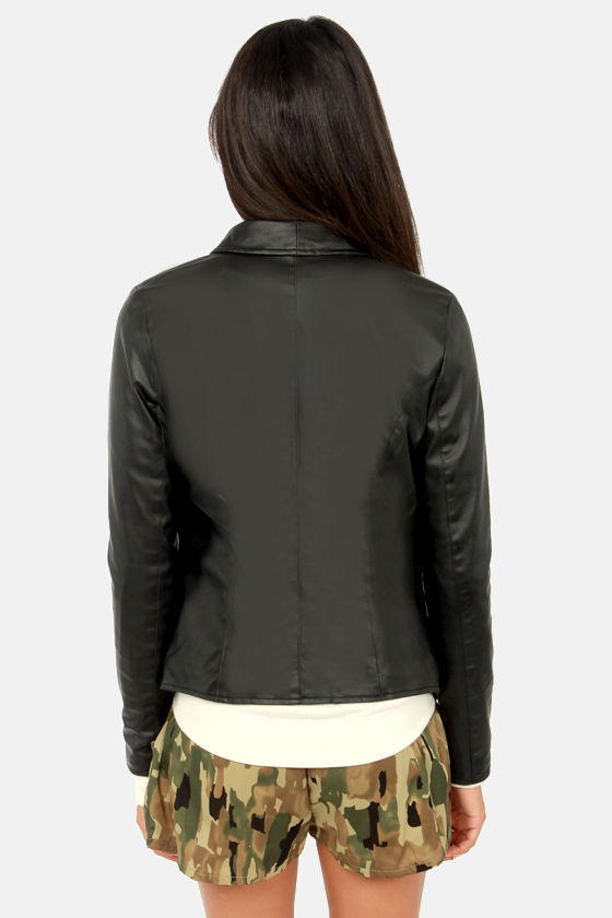 BB Dakota by Jack Heinz Black Vegan Leather Jacket at Lulus.com!