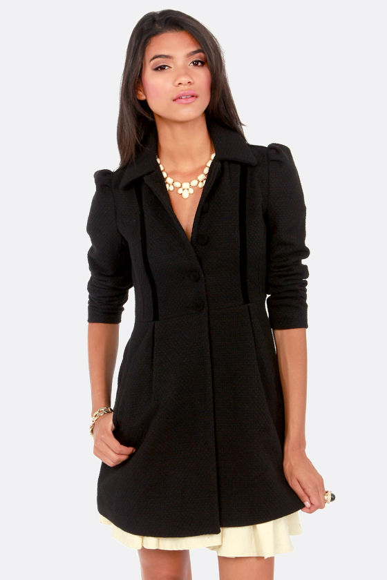 BB Dakota by Jack Buckingham Black Frock Coat at Lulus.com!