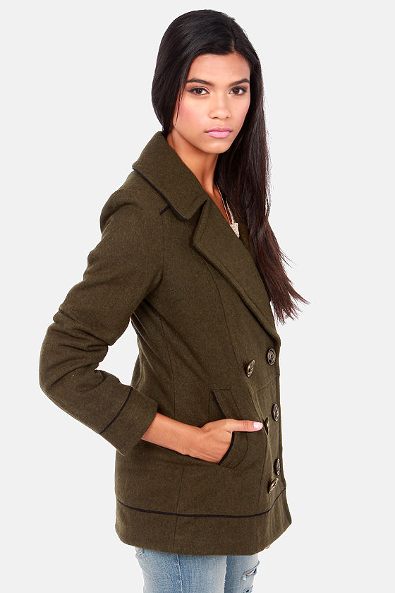 Gentle Fawn Brit Olive Green Pea Coat at Lulus.com!