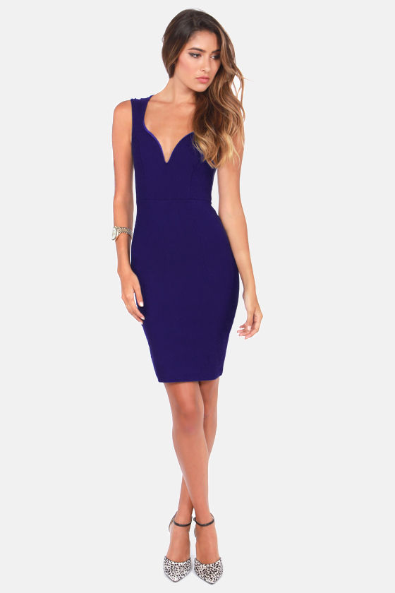 Visual Impact Royal Blue Dress at Lulus.com!