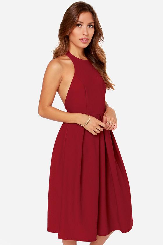 Backless Midi Dress