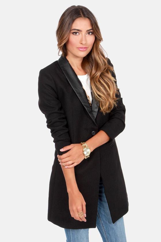 BB Dakota Blair Black Boyfriend Jacket at Lulus.com!