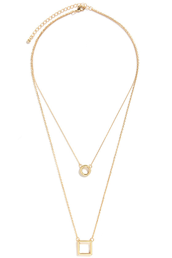 Shaping Lives Gold Layered Necklace at Lulus.com!