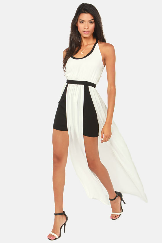 Rubber Ducky Groove On Black and White Dress at Lulus.com!