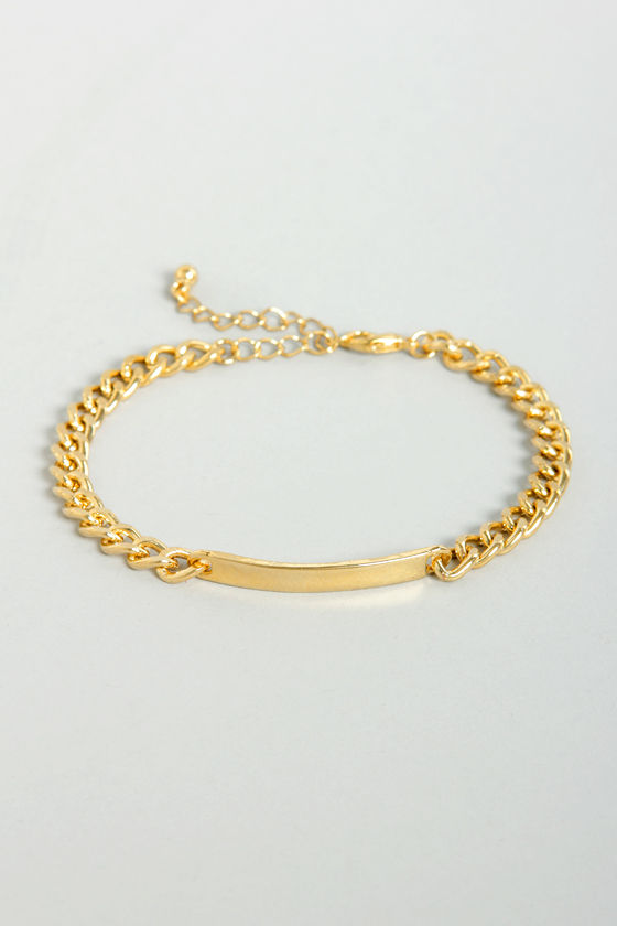 Zad What's in a Name? Gold ID Bracelet at Lulus.com!