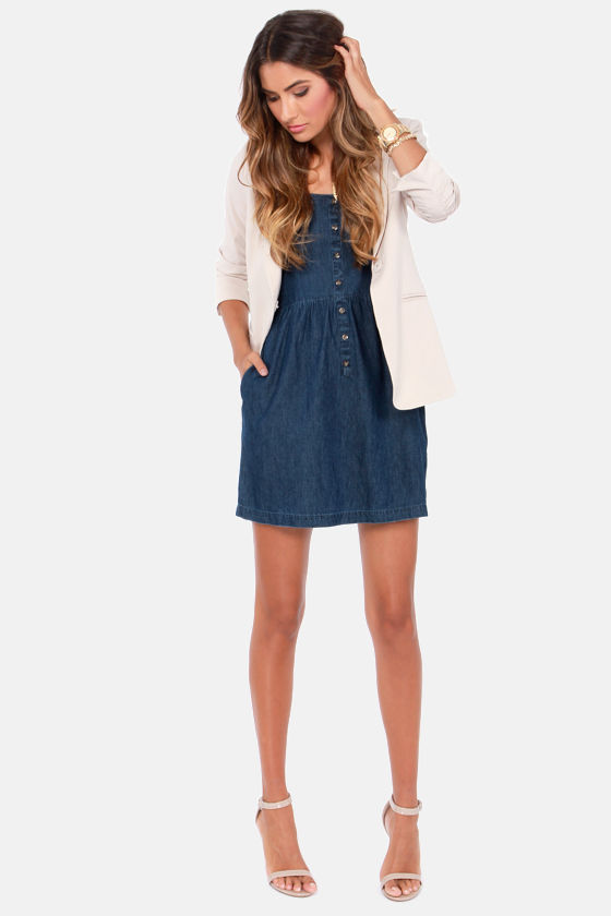 Volcom Not So Classic VBJ Denim Dress at Lulus.com!