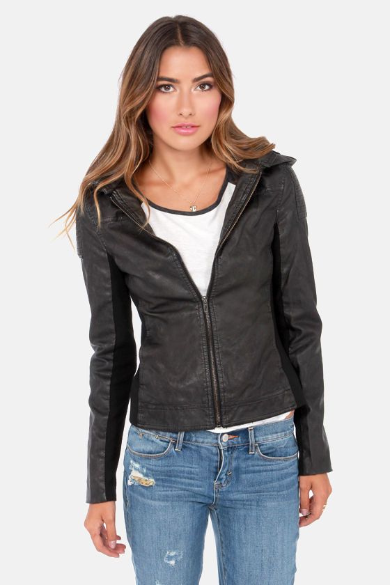 Black Swan Rise Above Black Vegan Leather Jacket at Lulus.com!