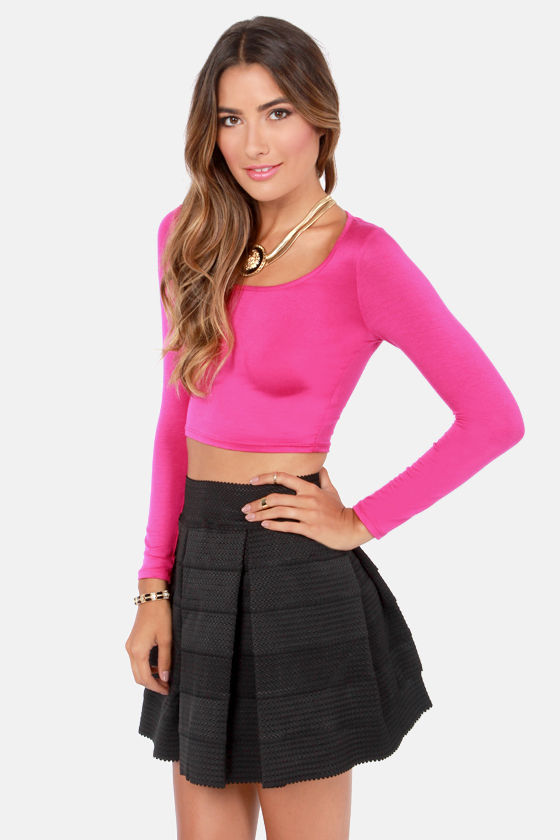 Playing for Keeps Fuchsia Crop Top at Lulus.com!