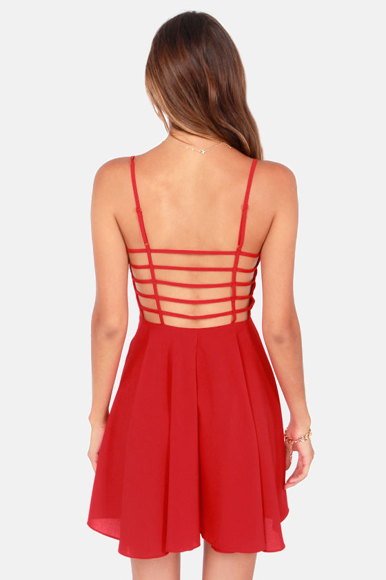 Oh Strap! Red Dress at Lulus.com!