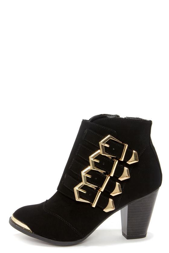 Cute Black Shoes - Ankle Boots - Black Boots - Booties - $49.00