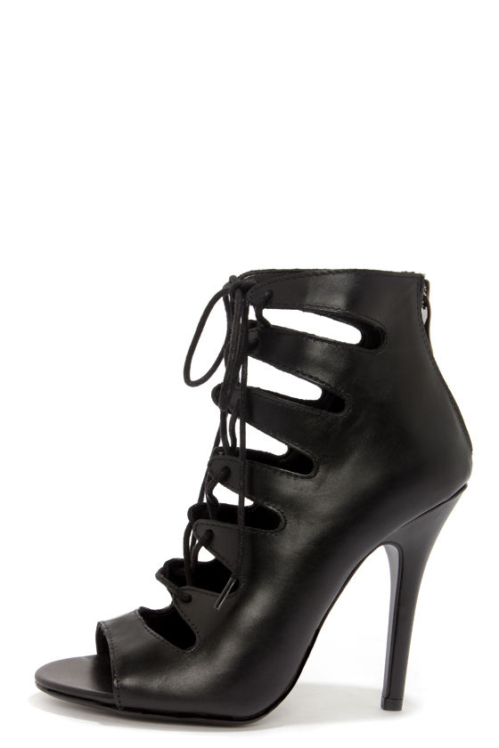 Cute Black Heels - Black Booties - High Heel Booties - $109.00
