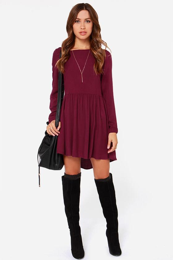 Clothing Dresses Long Sleeve Holiday Black