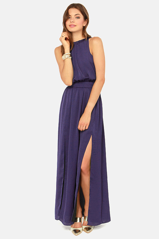 Blaque Label Fire Me Up Indigo Blue Maxi Dress at Lulus.com!