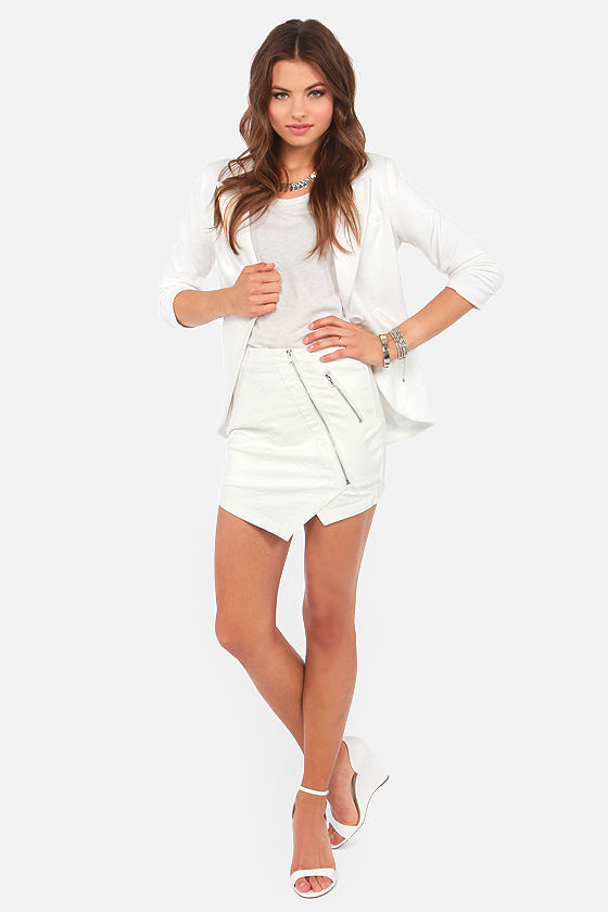 Snake Bite Ivory Mini Skirt at Lulus.com!