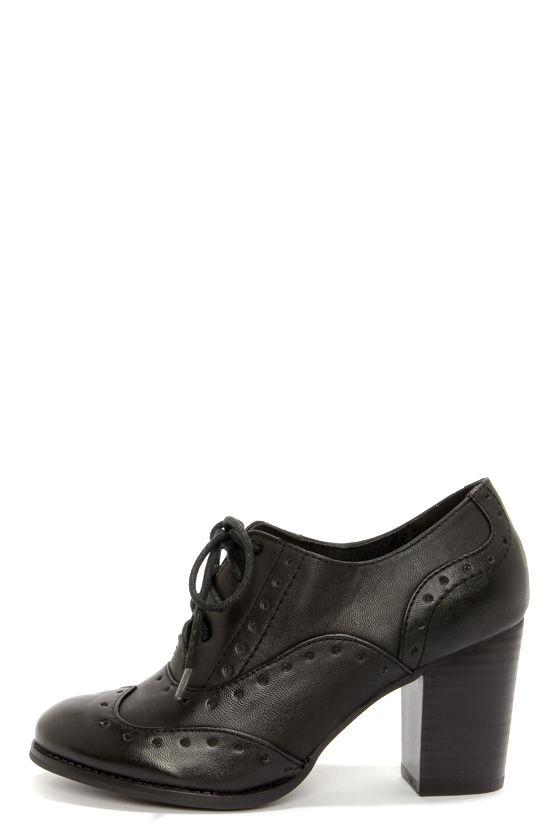 Cute Black Oxfords - Oxford Heels