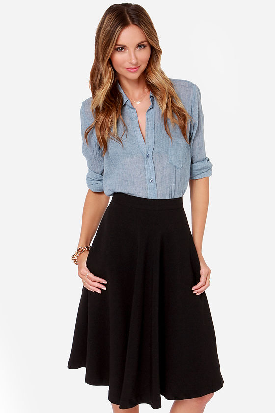d912c22eec2 Finders Keepers Skirt - Black Skirt - Midi Skirt