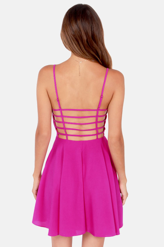 Oh Strap! Magenta Dress at Lulus.com!