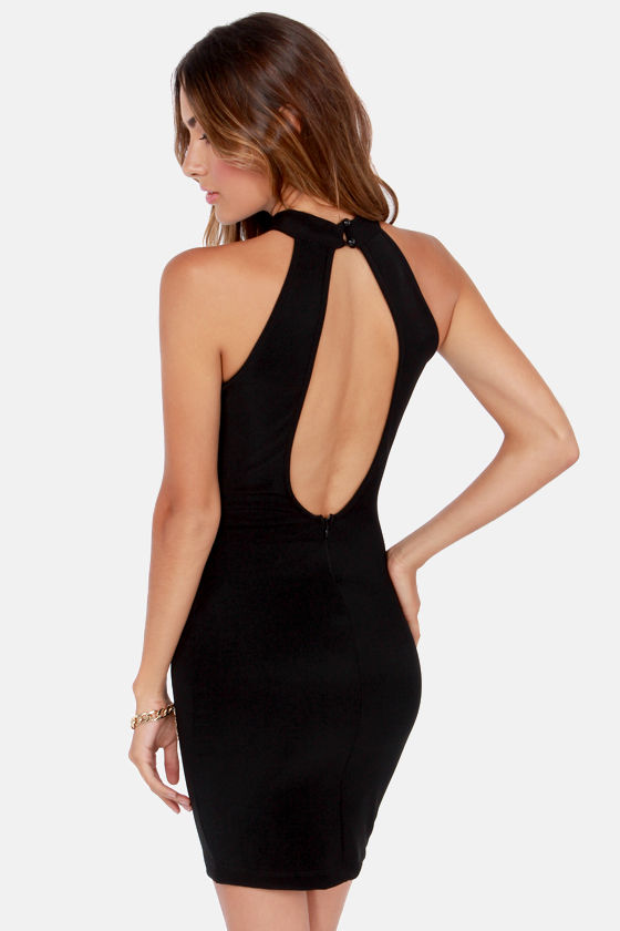 Va Va View Backless Black Dress at Lulus.com!