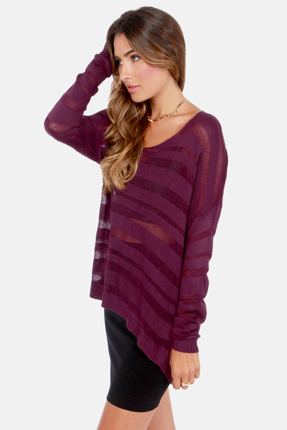 Enjoy the Ride Burgundy Sweater at Lulus.com!