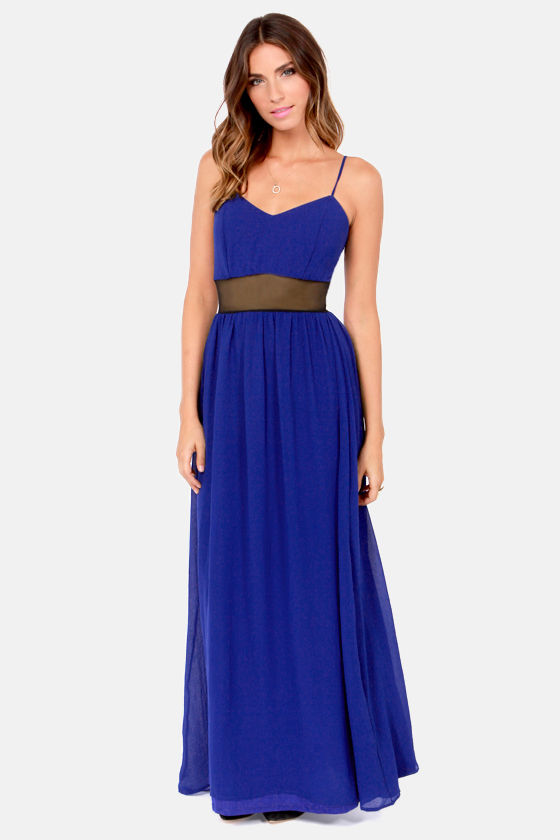 Underneath It All Cutout Blue Maxi Dress at Lulus.com!