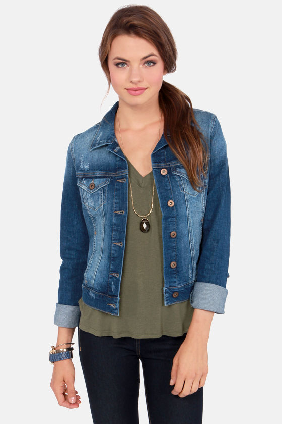 8e27a359a658 Mavi Samantha Jean Jacket - Indigo Jacket - Distressed Jacket -  128.00