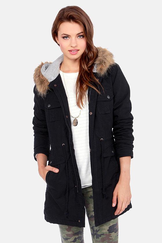 Volcom Trip Parka - Black Jacket - Hooded Parka - $119.50