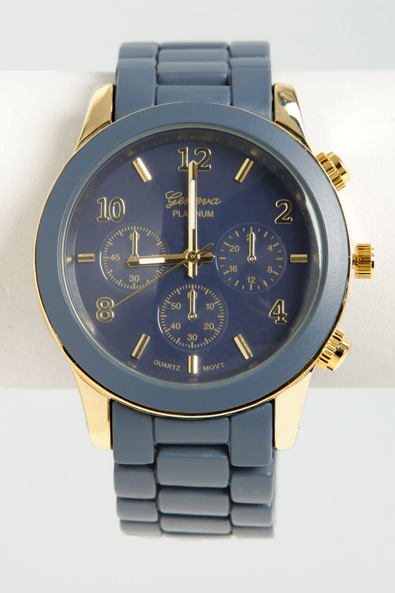 All In the Wrist Navy Blue Watch at Lulus.com!