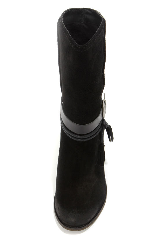 Mia Limited Edition Toledoo Black Suede High Heel Boots at Lulus.com!