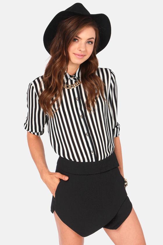 2f4c5b141 Cute Black Shorts - Black Skirt - Envelope Skirt - $39.00