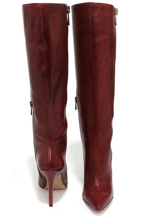 46f08923aa0 Jessica Simpson Capitani Oxblood Leather High Heel Boots