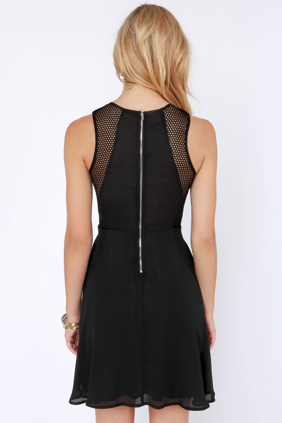 Quite a Catch Cutout Black Dress at Lulus.com!