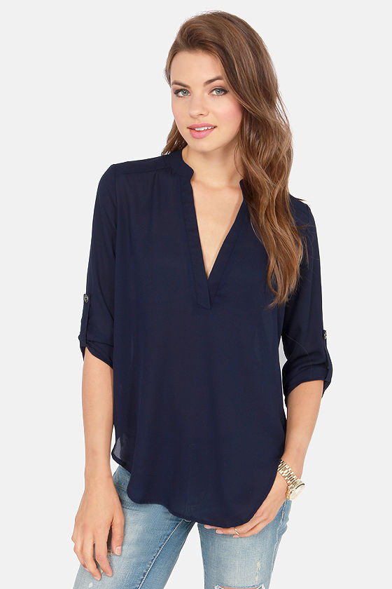 Dark Blue Top