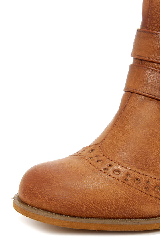 Restricted City Search Tan Brogue Ankle Boots at Lulus.com!