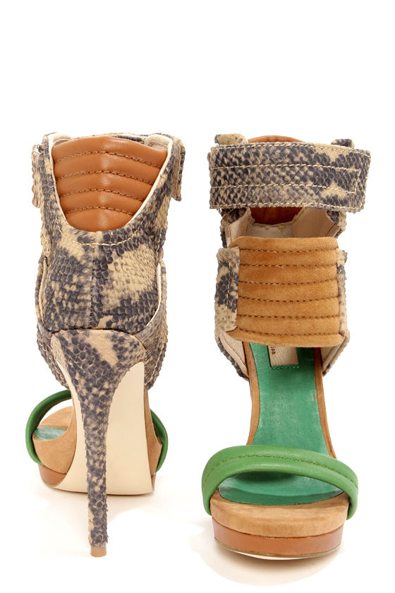 Mia Limited Edition Rocco Green Lizard High Heel Sandals at Lulus.com!