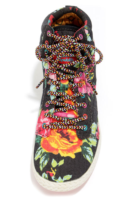 Tigerbear Republik She Rah Black Rose High Top Sneakers at Lulus.com!