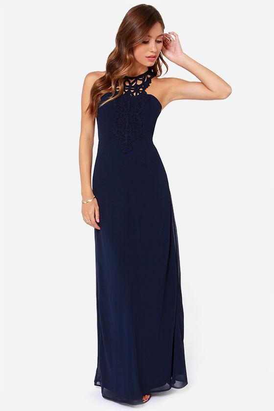 836123c26c8 Maxi Dress - Navy Blue Dress - Backless Dress -  54.00