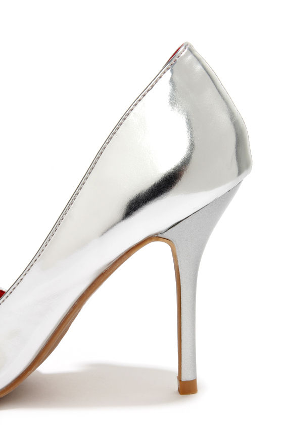 Shoe Republic LA Beverly Silver D'Orsay Pointed Pumps at Lulus.com!