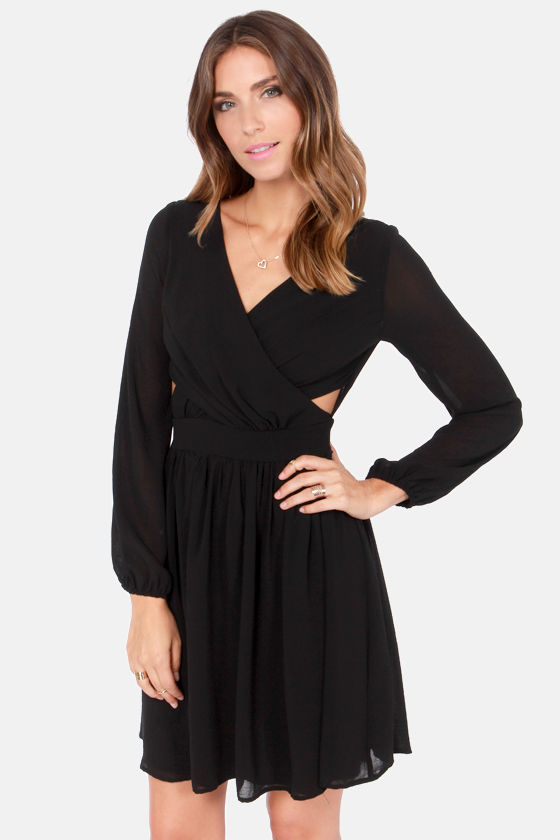 At First Glance Long Sleeve Black Dress - $47.00 #affiliate