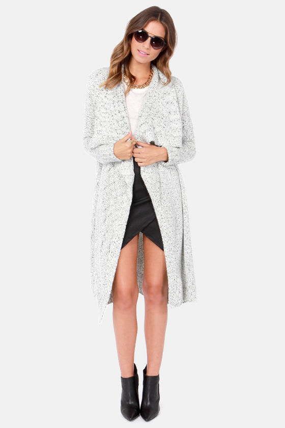 RVCA Bolu Black and Ivory Cardigan Sweater at Lulus.com!