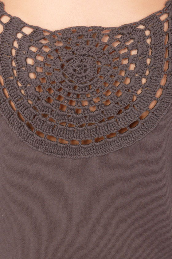 RVCA Mustafa Sable Crochet Sweatshirt at Lulus.com!