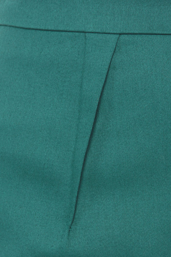 Schoolyard Sweetheart Teal Skirt at Lulus.com!