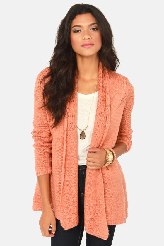 O'Neill Needles Terra Cotta Wrap Sweater at Lulus.com!