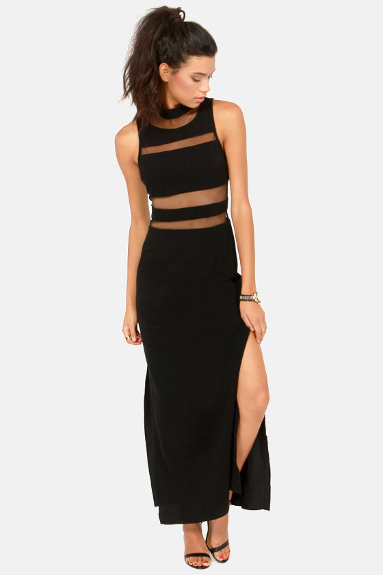 Sexy Black Dress Maxi Dress Cutout Dress 6800