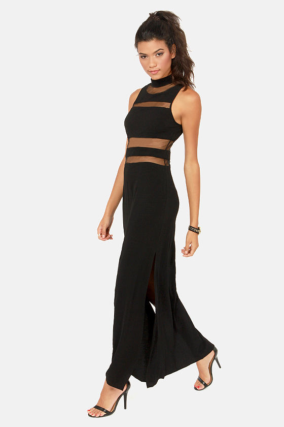 Cut and Run Cutout Black Maxi Dress at Lulus.com!